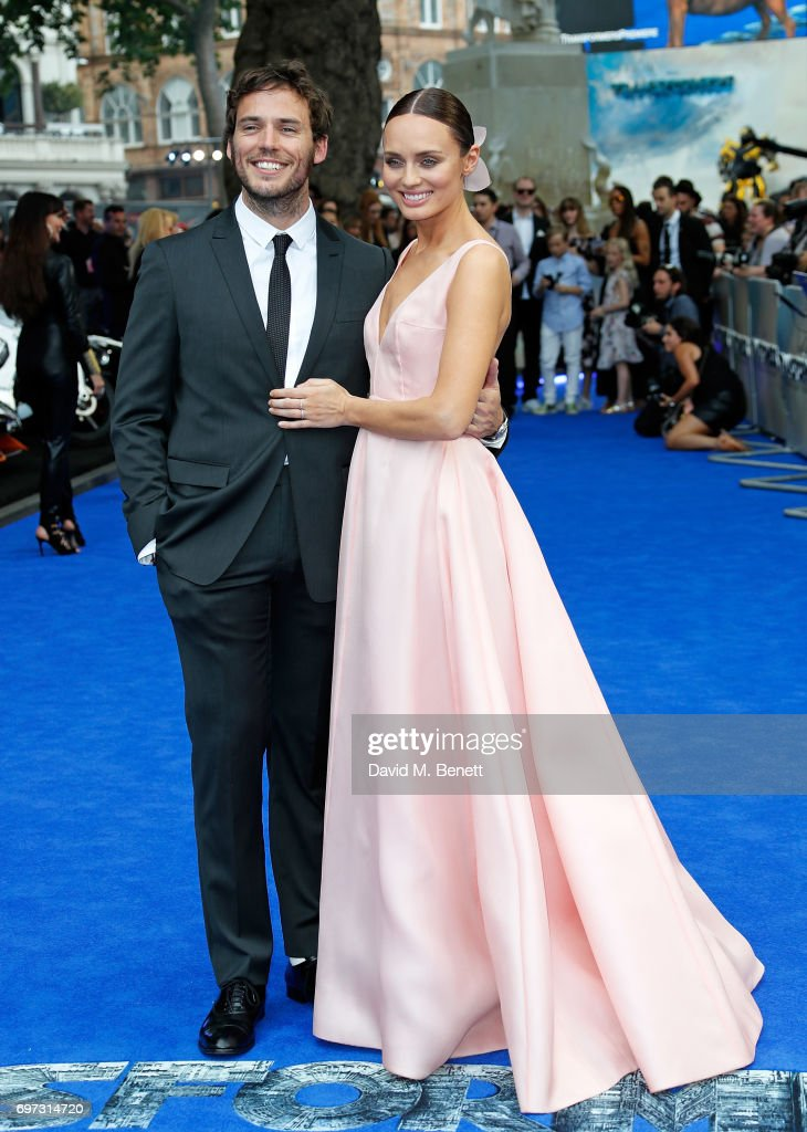 Sam Claflin and Laura Haddock attend the Global Premiere of 'Transformers: The Last Knight' at Cineworld Leicester Square on June 18, 2017 in London, England.