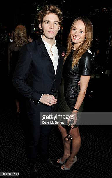 Sam Claflin and Laura Haddock attend the PreBAFTA Party hosted by EE and Esquire ahead of the 2013 EE British Academy Film Awards at The Savoy Hotel...