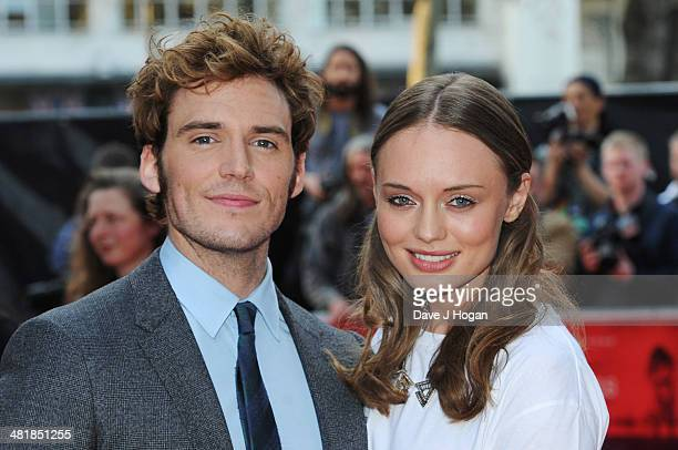 Sam Claflin and Laura Haddock attend the world premiere of 'The Quiet Ones' at The Odeon West End on April 1 2014 in London England