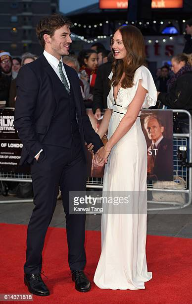 Sam Claflin and Laura Haddock attend 'Their Finest' Mayor's Centrepiece Gala screening during the 60th BFI London Film Festival at Odeon Leicester...