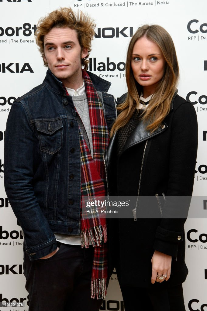 Sam Claflin and Laura Haddock attends the premiere of Rankin's Collabor8te connected by NOKIA at Regent Street Cinema on February 12, 2013 in London, England.