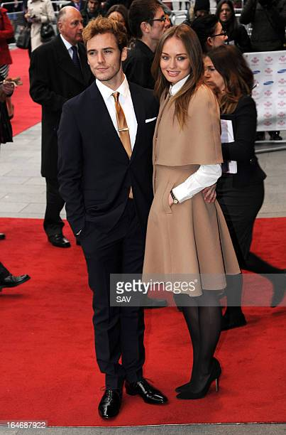 Sam Claflin and Laura Haddock attends the Prince's Trust Celebrate Success Awards at Odeon Leicester Square on March 26 2013 in London England