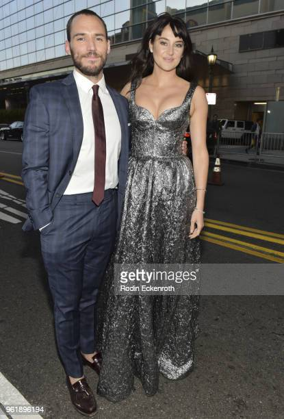 Sam Claflin and Shailene Woodley arrive at the premiere of STX Films' Adrift at Regal LA Live Stadium 14 on May 23 2018 in Los Angeles California