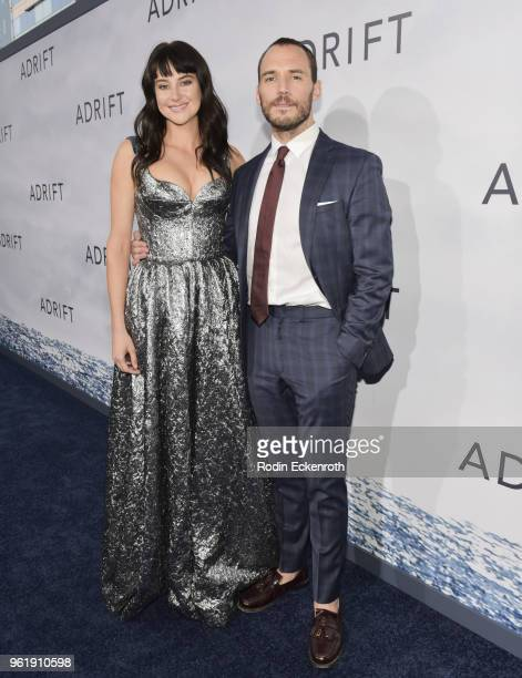 Sam Claflin and Shailene Woodley arrive at the premiere of STX Films' 'Adrift' at Regal LA Live Stadium 14 on May 23 2018 in Los Angeles California