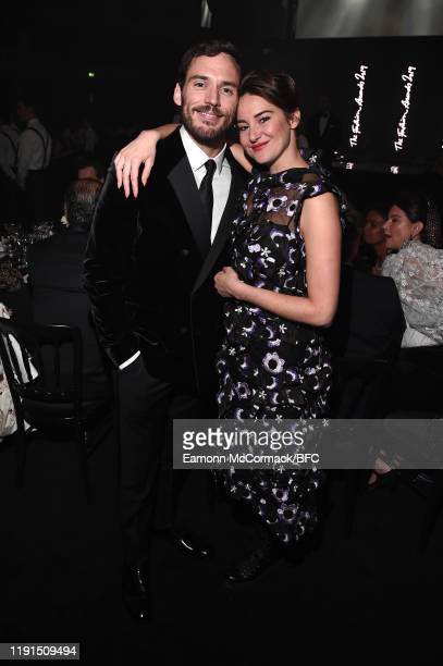 Sam Claflin and Shailene Woodley attend the VIP dinner at The Fashion Awards 2019 held at Royal Albert Hall on December 02 2019 in London England