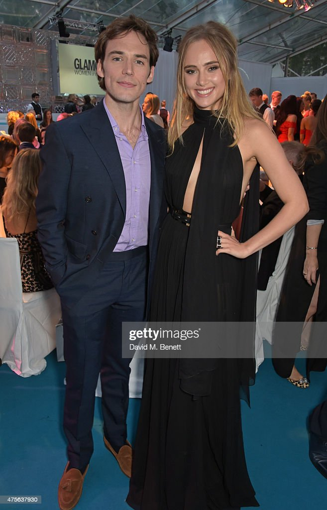 Sam Claflin (L) and Suki Waterhouse attend the Glamour Women Of The Year awards at Berkeley Square Gardens on June 2, 2015 in London, England.