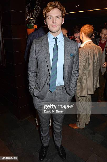 Sam Claflin attends an after party following the World Premiere of 'The Quiet Ones' at Mint Leaf restaurant on April 1 2014 in London England