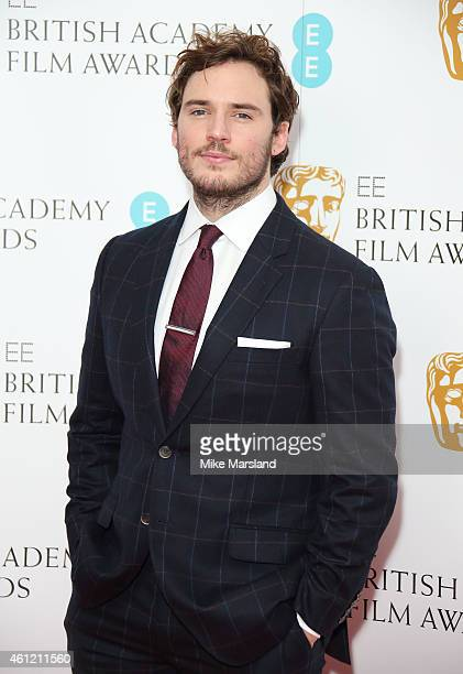 Sam Claflin attends as the nominations for the EE British Academy Film Awards are announced at BAFTA on January 9 2015 in London England The awards...