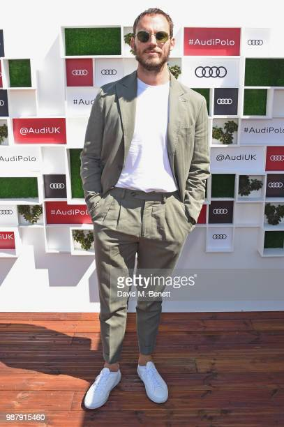 Sam Claflin attends the Audi Polo Challenge at Coworth Park Polo Club on June 30 2018 in Ascot England