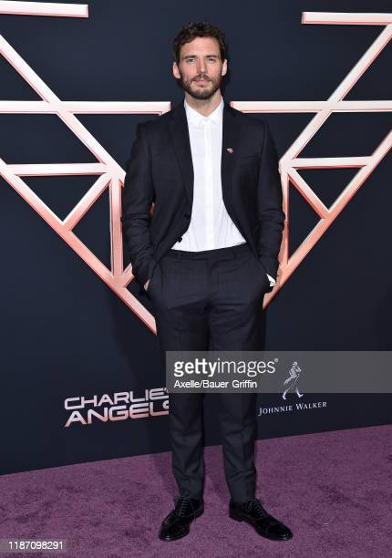 Sam Claflin attends the Premiere of Columbia Pictures' Charlie's Angels at Westwood Regency Theater on November 11 2019 in Los Angeles California