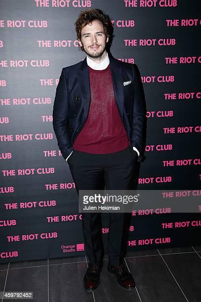 Sam Claflin attends 'The Riot Club' Paris Premiere at Mk2 Bibliotheque on December 1 2014 in Paris France