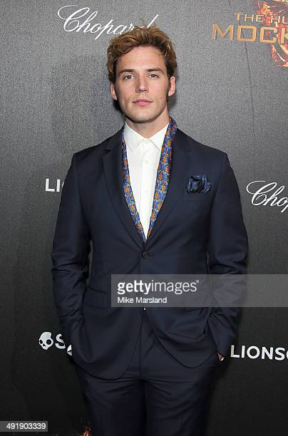 Sam Claflin attends the 'The Hunger Games Mockingjay Part 1' party at the 67th Annual Cannes Film Festival on May 17 2014 in Cannes France