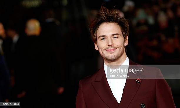Sam Claflin attends the World Premiere of The Hunger Games Mockingjay Part 1 at Odeon Leicester Square on November 10 2014 in London England