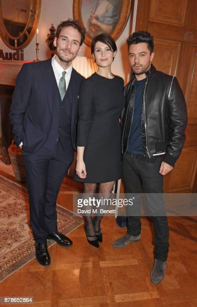 Sam Claflin Gemma Arterton and Dominic Cooper attend the Audi A8 Launch at Cowdray House on November 24 2017 in Midhurst England