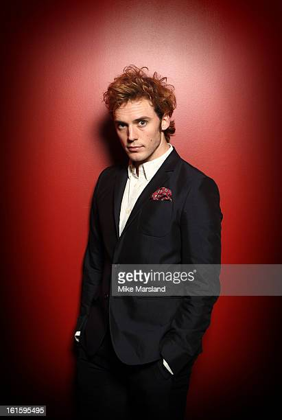 Sam Claflin poses in the portrait studio at the PreBafta party hosted by EE and Esquire ahead of the 2013 EE British Academy Film Awards at The Savoy...