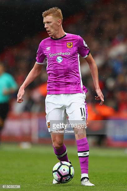 Sam Clucas of Hull City during the Premier League match between AFC Bournemouth and Hull City at Vitality Stadium on October 15 2016 in Bournemouth...
