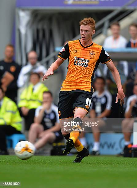 Sam Clucas of Hull City in action during the Sky Bet Championship match between Hull City and Huddersfield Town at KC Stadium on August 8 2015 in...