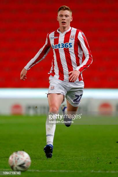 Sam Clucas of Stoke City during the FA Cup Third Round Replay match between Stoke City and Shrewsbury Town at Bet365 Stadium on January 15 2019 in...