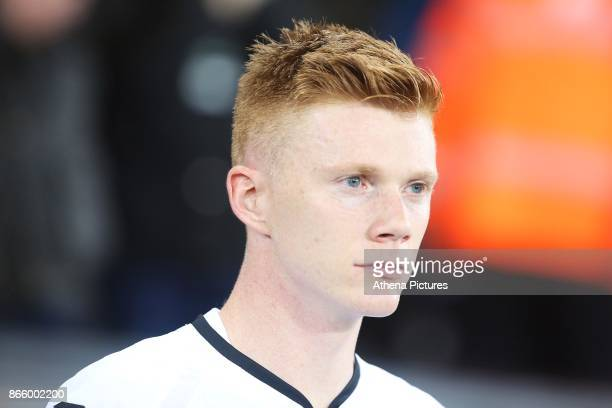 Sam Clucas of Swansea City prior to kick off of the Carabao Cup Fourth Round match between Swansea City and Manchester United at the Liberty Stadium...