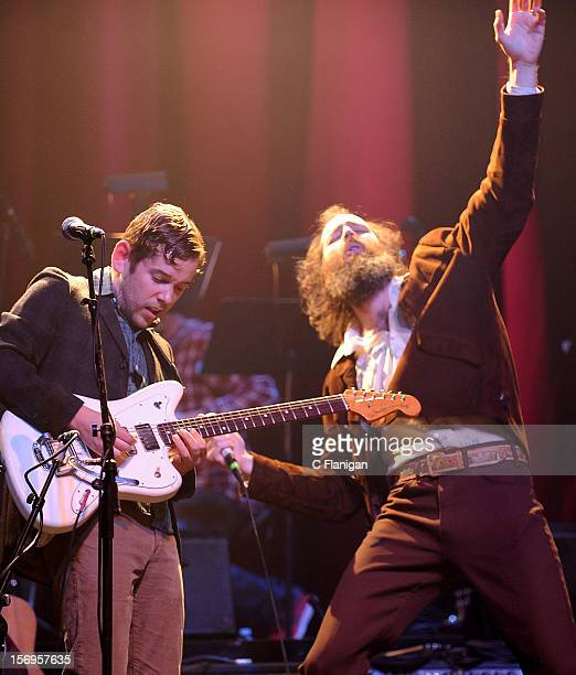 Sam Cohen and Ethan Miller of Howlin Rain perform at The Last Waltz Tribute Concert at The Warfield Theater on November 24 2012 in San Francisco...