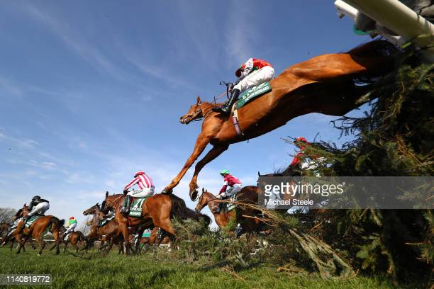 Sam Coltherd riding Captain Redbeard clears the Canal Turn during the Randox Health Grand National Handicap Chase at Aintree Racecourse on April 06,...