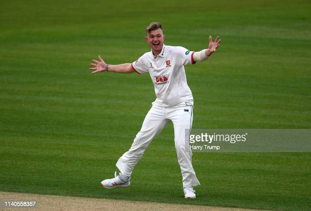 Sam Cook of Essex appeals during Day One of the Specsavers County Champions Division One match between Hampshire and Essex at the Ageas Bowl on April...