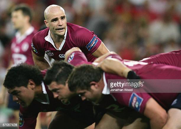 Sam Cordingley of the Queensland Reds in action during the Super 14 match between the Reds and Western Force on March 11 2006 at Suncorp Stadium in...