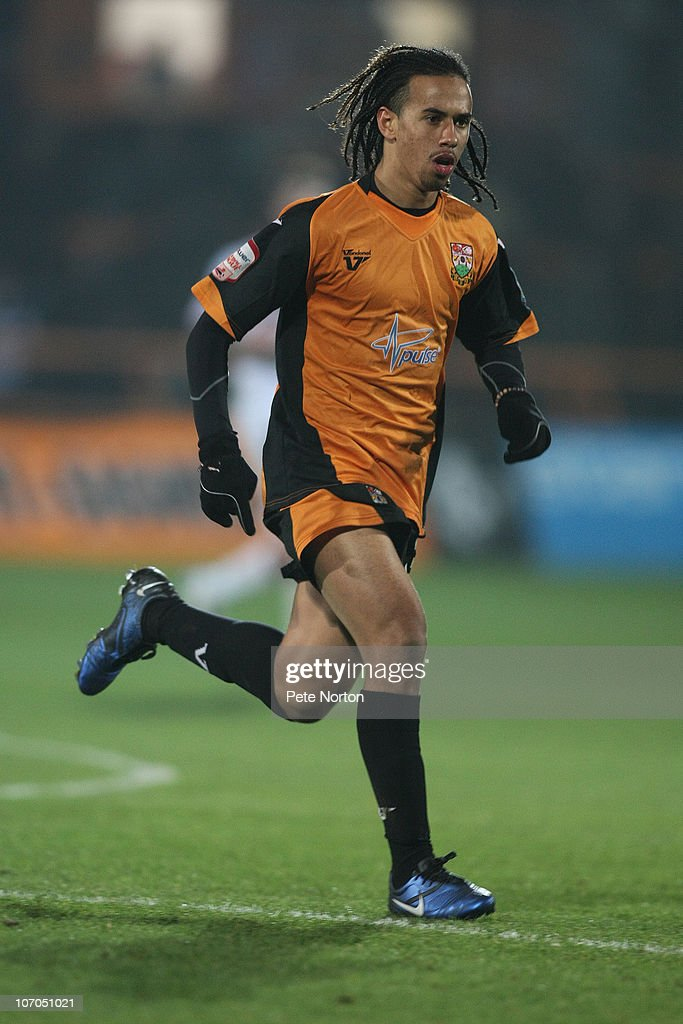 Sam Cox of Barnet in action during the npower League Two match between Barnet and Northampton Town at Underhill Stadium on November 20, 2010 in Barnet, England