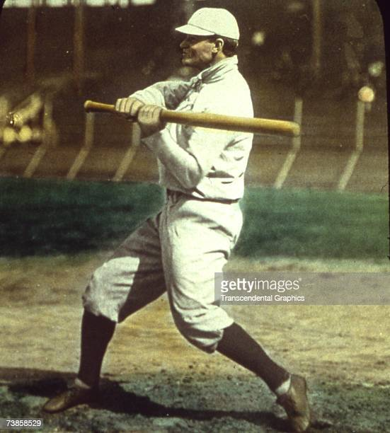 CHICAGO OCTOBER 1907 Sam Crawford outfielder for the American League Champion Detroit Tigers takes some swings before a World Series contest versus...