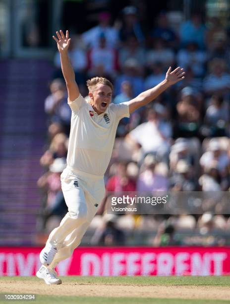 Sam Curran of England during the 4th Specsavers Test Match between England and India at The Ageas Bowl on September 2 2018 in Southampton England