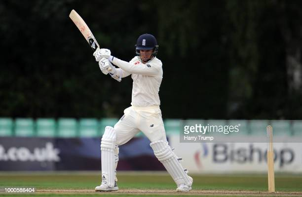 Sam Curran of England Lions bats during Day Two of the Tour Match match between England Lions and India A at New Road on July 17 2018 in Worcester...
