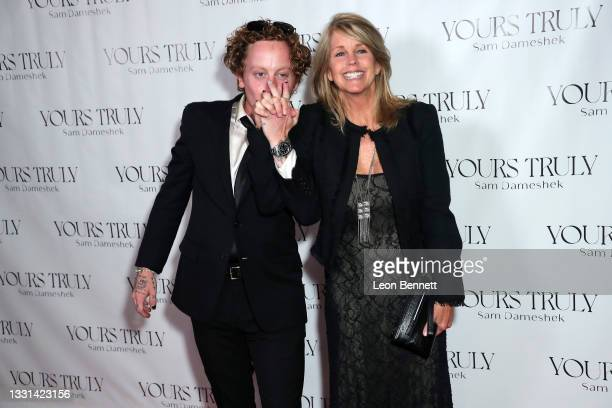 """Sam Dameshek and Kimberly O'Brien Young attends Celebrity Photographer Sam Dameshek's Black Tie Book Release Event For """"Yours Truly"""" at Fellow on..."""