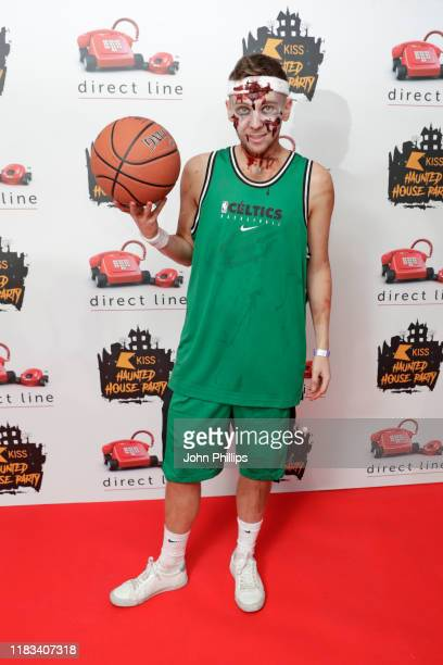 Sam Darlaston attends the KISS Haunted House Party 2019 at The SSE Arena Wembley on October 25 2019 in London England