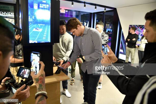 Sam Darnold attends Twitch Rivals Streamer Bowl After Party at Verizon 5G Stadium at Super Bowl LIVE on January 30 2020 in Miami Florida