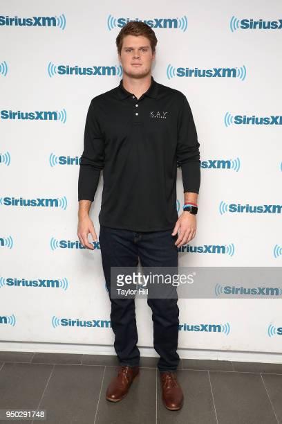 Sam Darnold visits the SiriusXM Studios on April 23 2018 in New York City