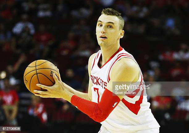 Sam Dekker of the Houston Rockets in action during their game against the New York Knicks at the Toyota Center on October 4 2016 in Houston Texas...