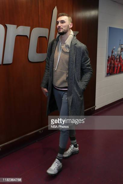 Sam Dekker of the Washington Wizards arrives to the arena prior to the game against the Miami Heat on March 23 2019 at Capital One Arena in...