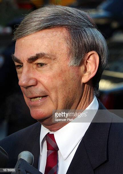 Sam Donaldson attends the funeral of former ABC News Chairman Roone Arledge December 9 2002 in New York City Arledge who built groundbreaking sports...