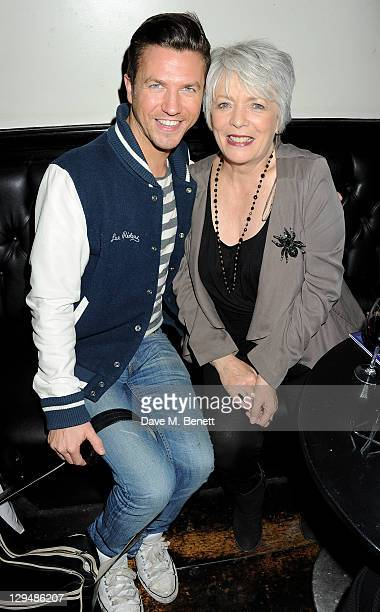 Sam Dowler and Alison Steadman attends an after party following Press Night of 'Crazy For You' on October 17 2011 in London England