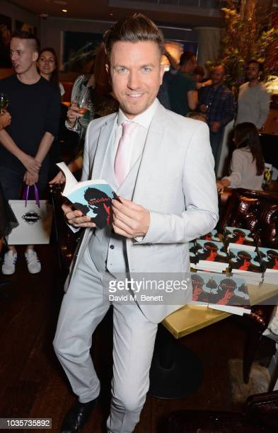 Sam Dowler and Freddie Foreman attend the launch of Sam Dowler's debut book 'The Insider' at the Sanctum Soho Hotel on September 18 2018 in London...