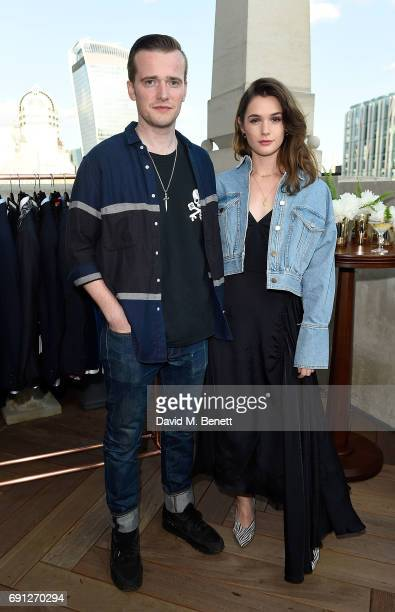 Sam Doyle and Sai Bennet attend a Fine Tailoring Dinner hosted by Charlie CaselyHayford and Topman at The Ned on June 1 2017 in London England