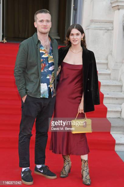 Sam Doyle and Sai Bennett attend the opening night of Film4 Summer Screen at Somerset House featuring the UK Premiere of Pain And Glory on August 8...