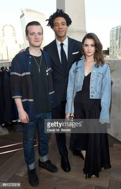 Sam Doyle Charlie CaselyHayford and Sai Bennet attend a Fine Tailoring Dinner hosted by Charlie CaselyHayford and Topman at The Ned on June 1 2017 in...