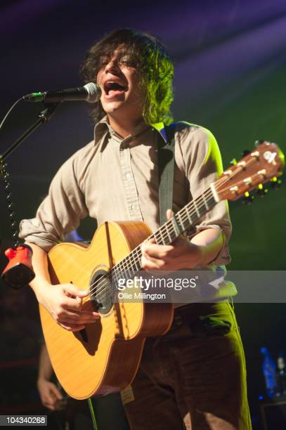 Sam Duckworth of Get Cape Wear Cape Fly performs on the second room stage at O2 Academy on September 21, 2010 in Leicester, England.
