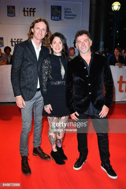 Sam Dunn Rachel Maclean and Scot McFadyen attend the 'Long Time Running' premiere during the 2017 Toronto International Film Festival at Roy Thomson...