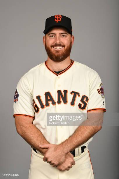Sam Dyson of the San Francisco Giants poses during Photo Day on Tuesday February 20 2018 at Scottsdale Stadium in Scottsdale Arizona