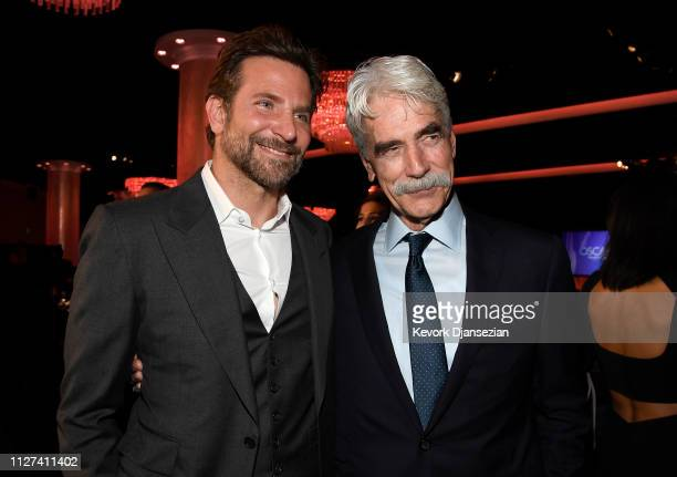 Sam Elliot and Bradley Cooper attend the 91st Oscars Nominees Luncheon at The Beverly Hilton Hotel on February 04 2019 in Beverly Hills California