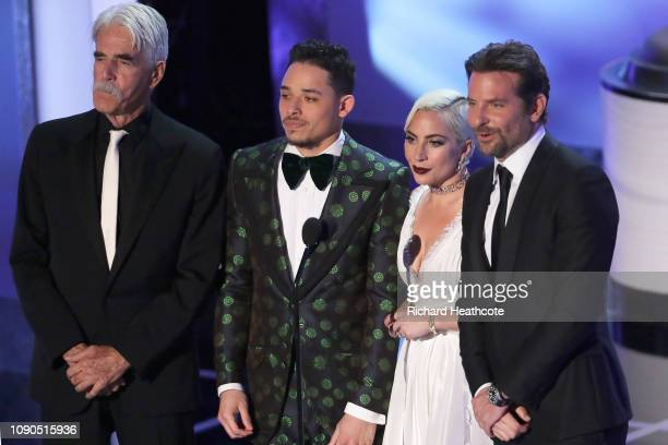 Sam Elliot Anthony Ramos Lady Gaga and Bradley Cooper onstage during the 25th Annual Screen ActorsGuild Awards at The Shrine Auditorium on January...