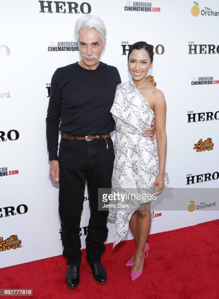 Sam Elliott and Candy Allo attends the Premiere Of The Orchard's The Hero at the Egyptian Theatre on June 5 2017 in Hollywood California