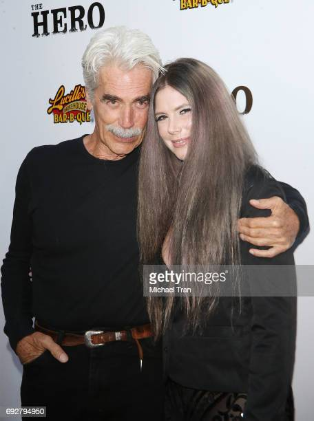 Sam Elliott and daughter Cleo Rose Elliott arrive at the Los Angeles premiere of The Hero held at the Egyptian Theatre on June 5 2017 in Hollywood...